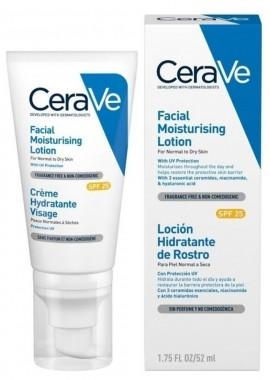 CERAVE Facial Moisturising Lotion SPF25 Ενυδατική Κρέμα Προσώπου για κανονικό έως ξηρό δέρμα Χωρίς άρωμα 52ml
