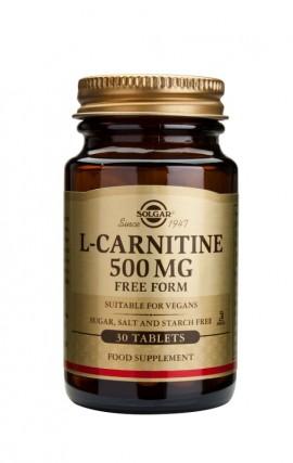 SOLGAR L-CARNITINE 500MG 30TAB