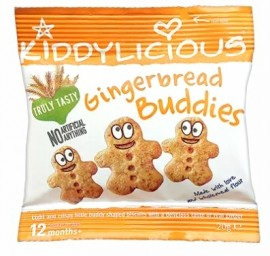KIDDYLICIOUS Gingerbread Buddies Μπισκότα Τζίντζερ, κατάλληλα από τον 12ο Μήνα, 20gr