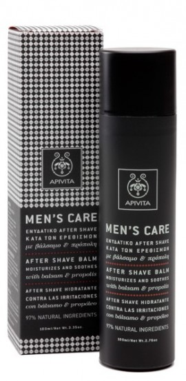 APIVITA Ενυδατικό After Shave Κατά των Ερεθισμών με Βάλσαμο & Πρόπολη, 100ml
