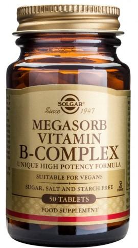 SOLGAR MEGASORB B-COMPLEX \50\ 50TAB