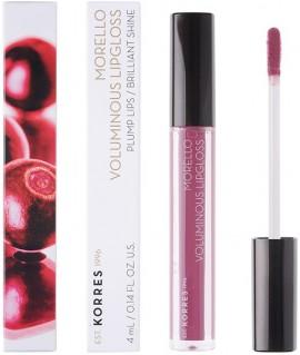 KORRES Morello Voluminous Lip Gloss NO27 Berry Purple Γεμάτα Xείλη & Λαμπερό Αποτέλεσμα, 4ml