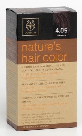 APIVITA Natures Hair Color N4.05 Καστανό, 125ml
