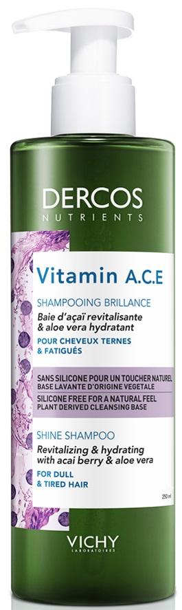 VICHY Dercos Nutrients Vitamin A.C.E Shampoo Σαμπουάν για Θαμπά Μαλλιά, 250ml