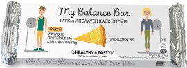 POWER HEALTH My Balance Bar, Μπάρα - Υποκατάστατο Γεύματος Πλούσια σε Πρωτεΐνες με Γεύση Lemon Pie, 35gr