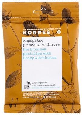 KORRES Καραμέλες με Μέλι & Echinacea, 15ΤΜΧ