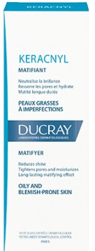 DUCRAY, Keracnyl Hydratante Matifiante, Eνυδατική Κρέμα για λιπαρά δέρματα με ατέλειες, ματ αποτέλεσμα, 30ml