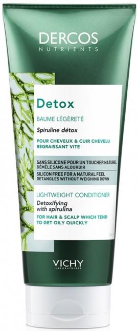 VICHY Dercos Nutrients Detox Conditioner Μαλλιών για Συχνή Χρήση, 200ml