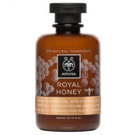 APIVITA Royal Honey, Κρεμώδες Αφρόλουτρο με Ελληνικό Θυμαρίσιο Μέλι, 300ml