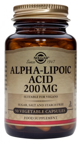 SOLGAR ALPHA LIPOIC ACID 200MG 50VCAP