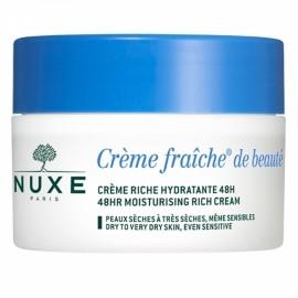 NUXE Creme fraiche de beaute Riche Hydratante 48H, Κρέμα 48ωρης ενυδάτωσης πλούσιας υφής για ξηρή και ευαίσθητη επιδερμίδα, 50ml