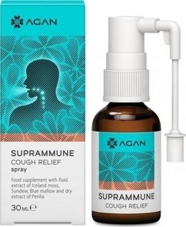 AGAN Suprammune Cough Relief Spray, Άμεση Ανακούφιση από ξηρό και Αλλεργικό Βήχα, 30ml