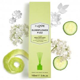 I LOVE Cosmetics Elderflower Fizz Reed Diffuser Αρωματικά Sticks Χώρου με αρώματα άνθους κουφοξυλιάς και Φρούτων για Απόλυτη Αίσθηση Χαλάρωσης 100ml ( …
