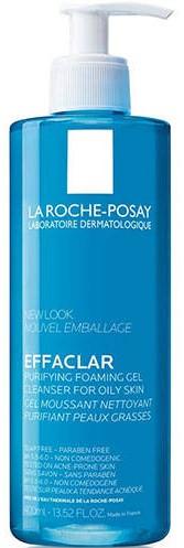 LA ROCHE-POSAY Effaclar Gel Moussant Purifiant Αφρώδες Gel Καθαρισμού για το Μικτό - Λιπαρό Δέρμα, 400ml