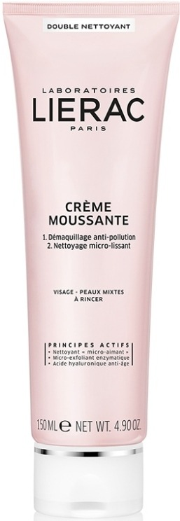 LIERAC Demaquillant Creme Moussante Αφρίζουσα Κρέμα Διπλού Καθαρισμού για μεικτές επιδερμίδες, 150ml