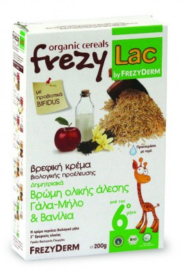 FREZYLAC Bio Cereal, Βρώμη Γάλα Μήλο Βανίλια, 200gr