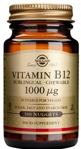 SOLGAR B12 1000MCG NUGGETS 100CAP