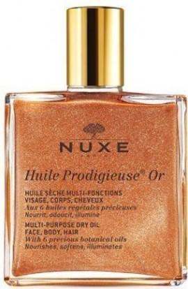 NUXE Huile Prodigieuse Or, Ξηρό Λάδι για το Πρόσωπο, το Σώμα και τα Μαλλιά, 50ml