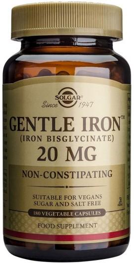 SOLGAR Gentle Iron 20mg, 180Veg.Caps