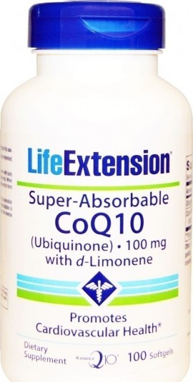 Life Extension Super-Absorbable CoQ10™ with d-Limonene 100mg, 60 Μαλακές Κάψουλες