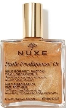 NUXE Huile Prodigieuse Or, Ξηρό Λάδι για το Πρόσωπο, το Σώμα και τα Μαλλιά, 100ml