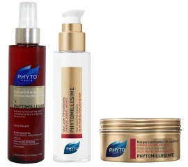 SET PHYTO Phytomillesime Color Locker Pre-Shampoo Tζελ 100ml & PHYTO Phytomillesime Beauty Concentrate Σπρέι 150ml & PHYTO Phytomillesime Color-Enhancing Mask Μάσκα Μαλλιών 200ml
