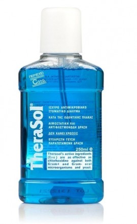 Therasol Solution Στοματικό Διάλυμα, Κατά της Κακοσμίας με γεύση Μέντας, 250 ml