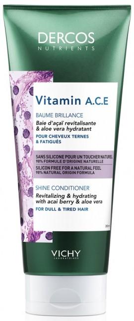 VICHY Dercos Nutrients Vitamin A.C.E Conditioner Μαλλιών για Συχνή Χρήση, 200ml