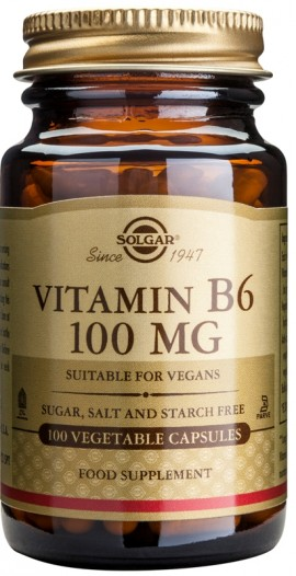 SOLGAR B6 100MG VEGETABLE 100CAP