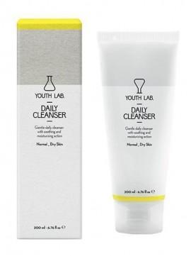 YOUTH LAB Daily Cleanser Normal-Dry Skin Καθαριστικό gel για ντεμακιγιάζ προσώπου και ματιών για ξηρό - κανονικό δέρμα, 200ml