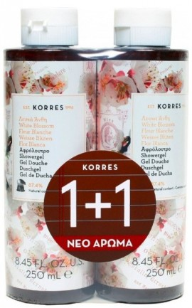 KORRES Αφρόλουτρο με Λευκά Άνθη, 1+1 Δώρο, 250ml & 250ml
