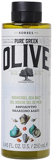 KORRES Pure Greek Olive Αφρόλουτρο με Θαλασσινό Αλάτι, 250ml