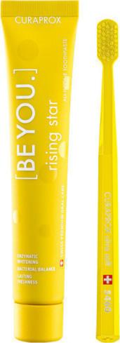 CURAPROX,  Be You Rising Star Οδοντόκρεμα Γκρέιπφρουτ & Περγαμόντο 90ml & Οδοντόβουρτσα CS 5460 Σε Κίτρινο Χρώμα, 1 Τεμάχιο