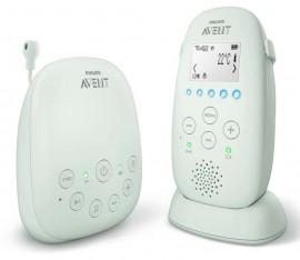AVENT PHILIPS  Συσκευή παρακολούθησης μωρού DECT: ενδείξεις LED, εμβέλεια 330 μέτρων, μέτρηση θερμοκρασίας, αμφίδρομη ομιλία, φωτάκι νυκτός, μελωδίες …