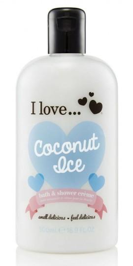 I LOVE ... Coconut Ice Bath & Shower Creme Ενυδατικό Αφρόλουτρο με άρωμα καρύδας και τροπικά αρώματα  500ml (1 τεμάχιο)