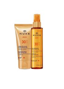 Nuxe Promo Sun Delicious Cream for Face SPF30, Αντηλιακή Προσώπου, 50ml & ΔΩΡΟ Nuxe Sun Tanning Oil High Protection SPF30, Λάδι Μαυρίσματος, 150ml