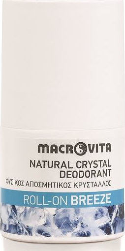 MACROVITA, Natural Crystal Deodorant Roll-On Breeze, Φυσικός Αποσμητικός Κρύσταλλος, Roll-On,  50ml