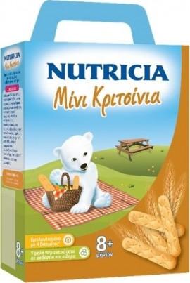 Nutricia Μίνι Κριτσίνια βρεφικά κριτσίνια από τον 8ο μήνα 180gr