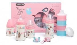 SUAVINEX Σετ Welcome baby GIRL δώρο για το νεογέννητο κοριτσάκι, code 10301709 (Σετ 7 τεμαχίων)