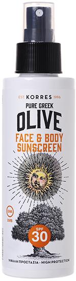KORRES Pure Greek Olive Αντηλιακό Γαλάκτωμα Προσώπου-Σώματος SPF30, 150ml