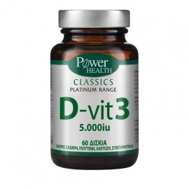 POWER HEALTH Classics Platinum Range D-Vit3 D3 5000iu, 60 Tabs