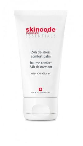 SKINCODE Essentials 24 De-stress Comfort  Balm, Πλούσια ενυδατική, αντιρυτιδική, αναπλαστική κρέμα, 50ml