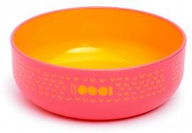 SUAVINEX Βοοο! Παιδικό πιάτο βαθύ. Για Μωρά +4Μ Άθραυστο,  Χρώμα Ροζ με Πορτοκαλί εσωτερικά code 1030657