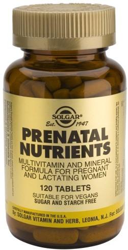 SOLGAR Prenatal Nutrients, 120Tabs