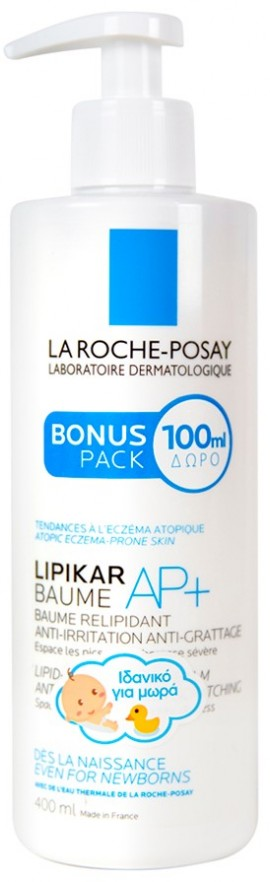 LA ROCHE-POSAY Lipikar Baume Ap+ Μαλακτικό Βάλσαμο Σώματος Αναπλήρωσης Λιπιδίων Κατά των Ερεθισμών & του κνησμού, 400ml