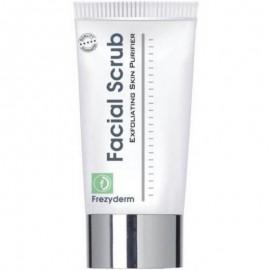 FREZYDERM Facial Scrub, Απαλό και Δροσερό Τζελ Απολέπισης Προσώπου, 100ml