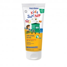 FREZYDERM Kids Sun and Nip SPF50+, Παιδικό Αντηλιακό με Εντομοαπώθηση 3+ ετών, 175ml