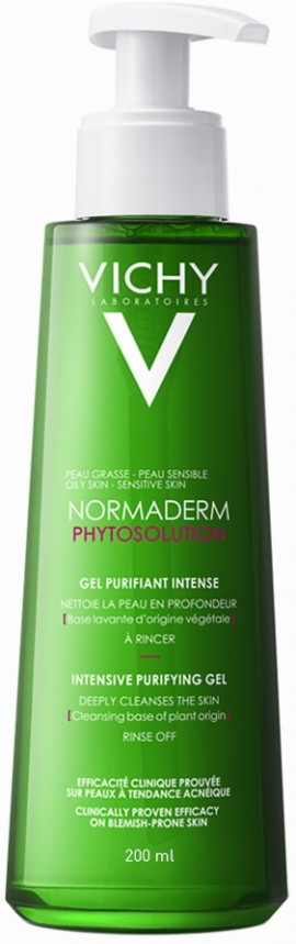 VICHY Normaderm Phytosolution Purifying Cleansing Gel Ζελ για Βαθύ Καθαρισμό, 200ml