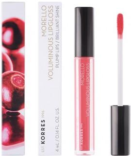 KORRES Morello Voluminous Lip Gloss NO42 Peachy Coral Γεμάτα Xείλη & Λαμπερό Αποτέλεσμα, 4ml
