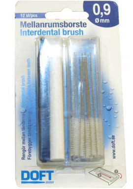 Doft Interdentals Μεσοδόντια Βουρτσάκια 0.9 Μπλέ, σε φακελάκι (12 τμχ)